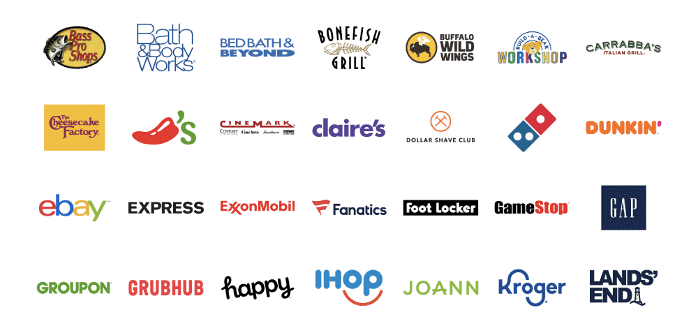Closed loop gift card brands available from Blackhawk Network