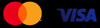 Mastercard and Visa network logos