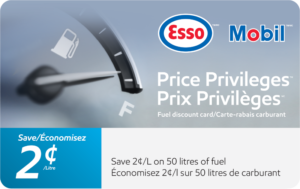 Esso Save 2 Cents Gift Card