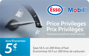 Esso Save 5 Cents Gift Card
