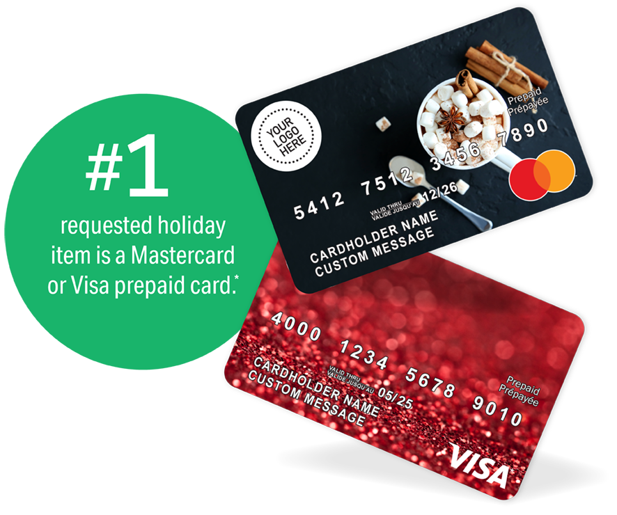 Holiday Prepaid Cards - top gift request