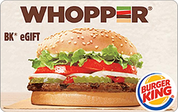 Buy Burger King Gift Cards or eGifts in bulk