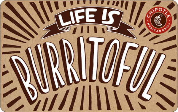 Buy Chipotle Mexican Grill Gift Cards or eGifts in bulk