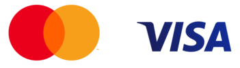 Mastercard and Visa network logos