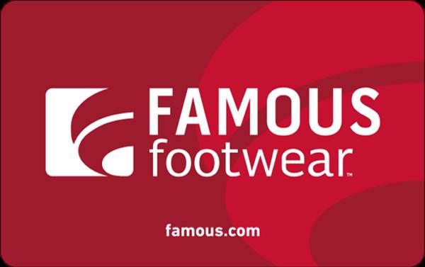 Buy Famous Footwear Gift Cards or eGifts in bulk