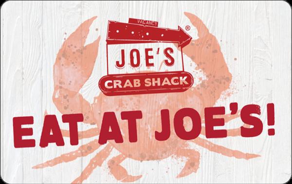Buy Joes Crab Shack Gift Cards or eGifts in bulk