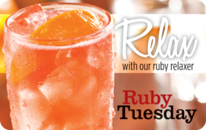Buy Ruby Tuesday Gift Cards or eGifts in bulk