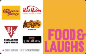 Food laugh choice gift card