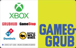 Game & Grub choice gift card