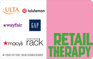 Retail therapy choice gift card