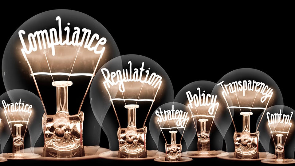 Lightbulbs of compliance, transparency and regulation