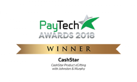 2018 PayTech Awards — CashStar Product eGifting