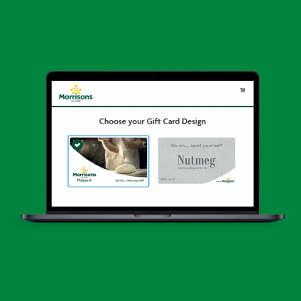 commerce solutions morrisons website on laptop